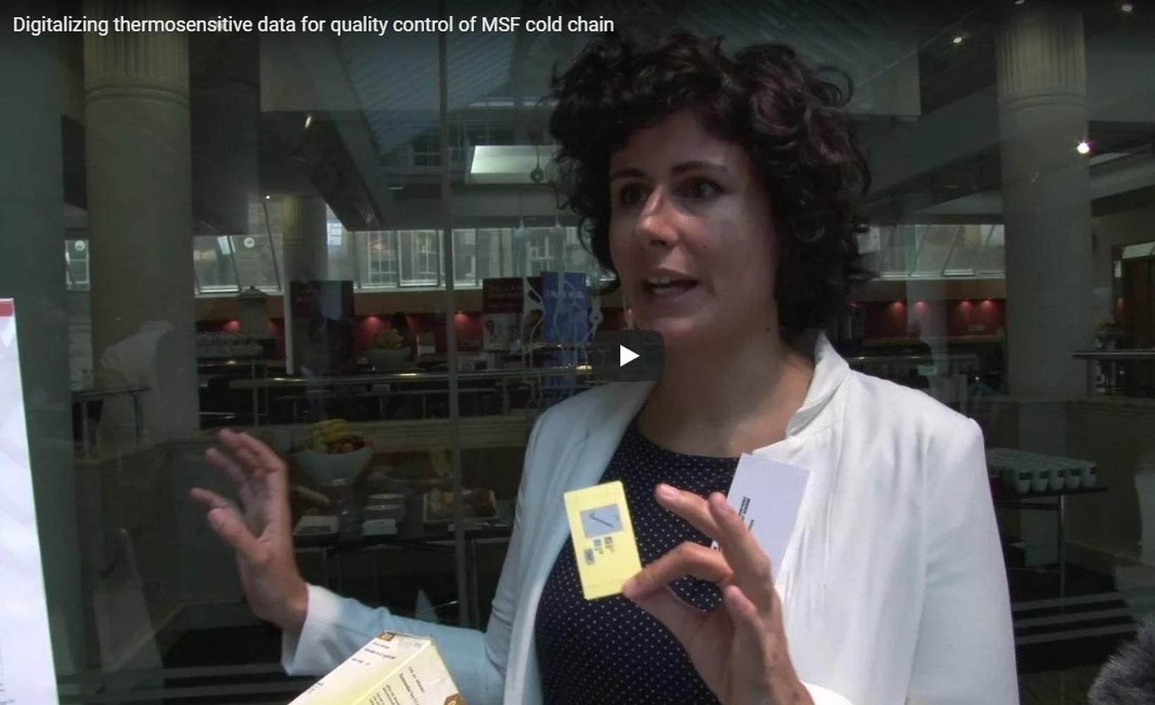 MSF Sweden Innovation Unit's Ana Laura Santos interviewed on the Smart Temperature Label