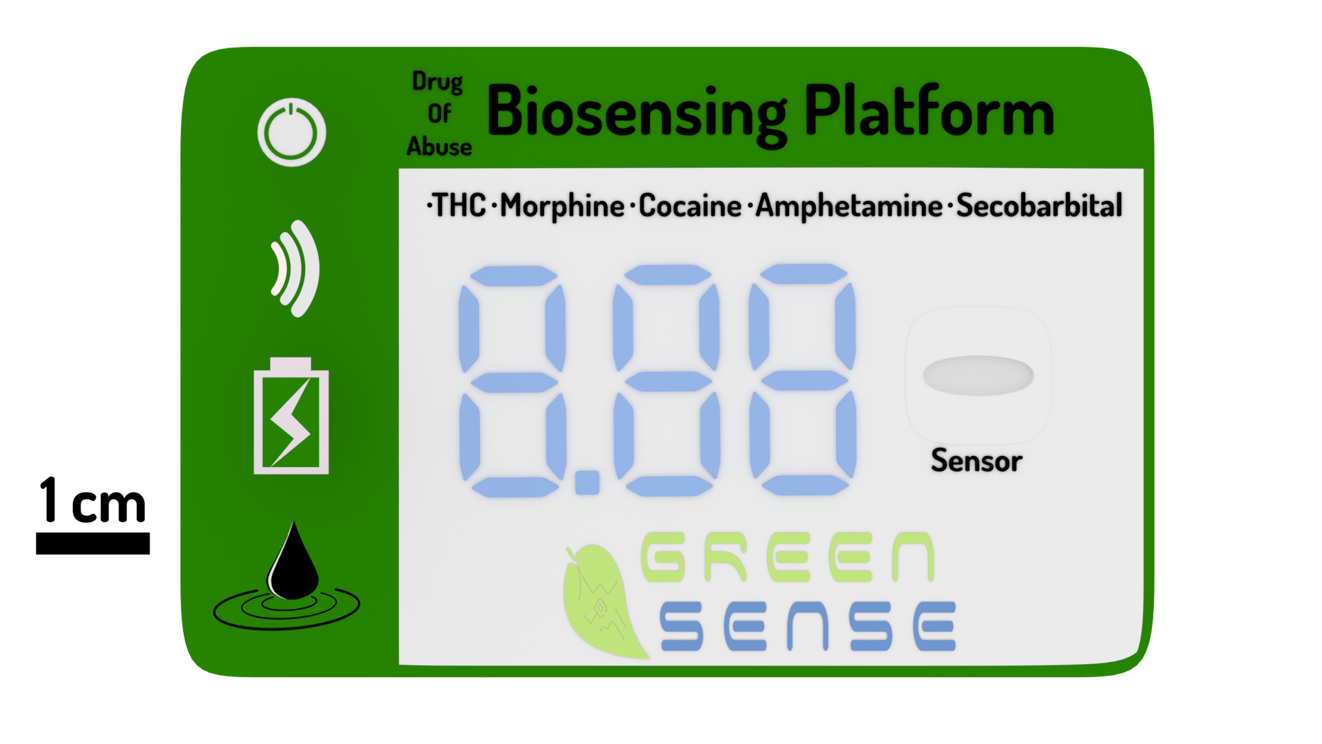 Greensense - small system for detection of Drugs of Abuse