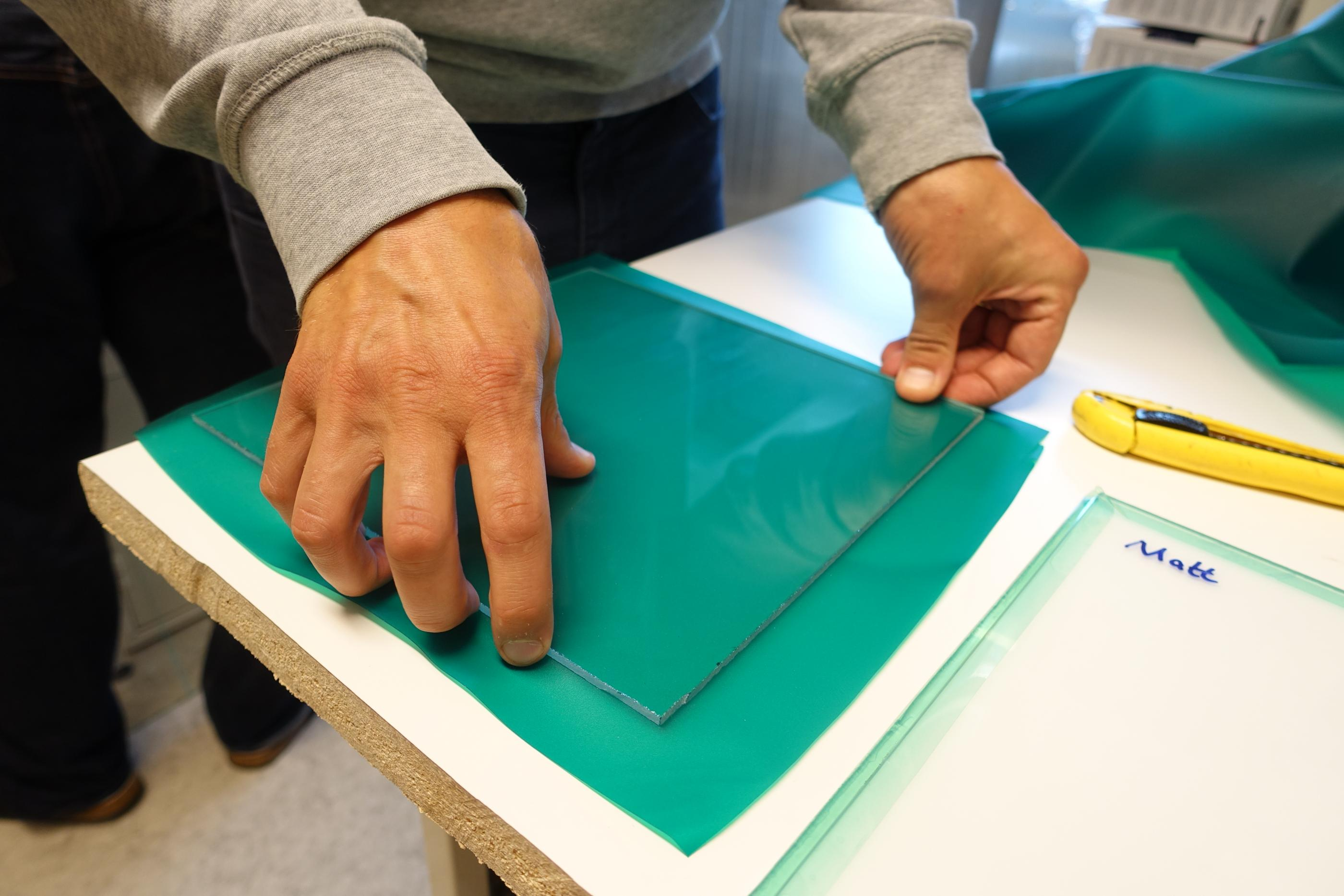 ground work for laminating glass