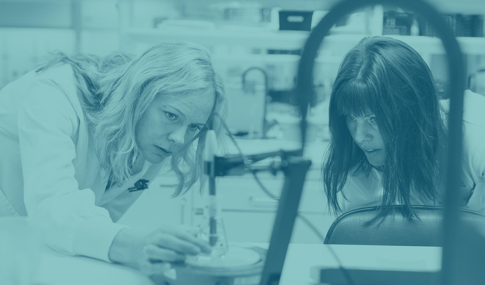 Women working in a lab environment