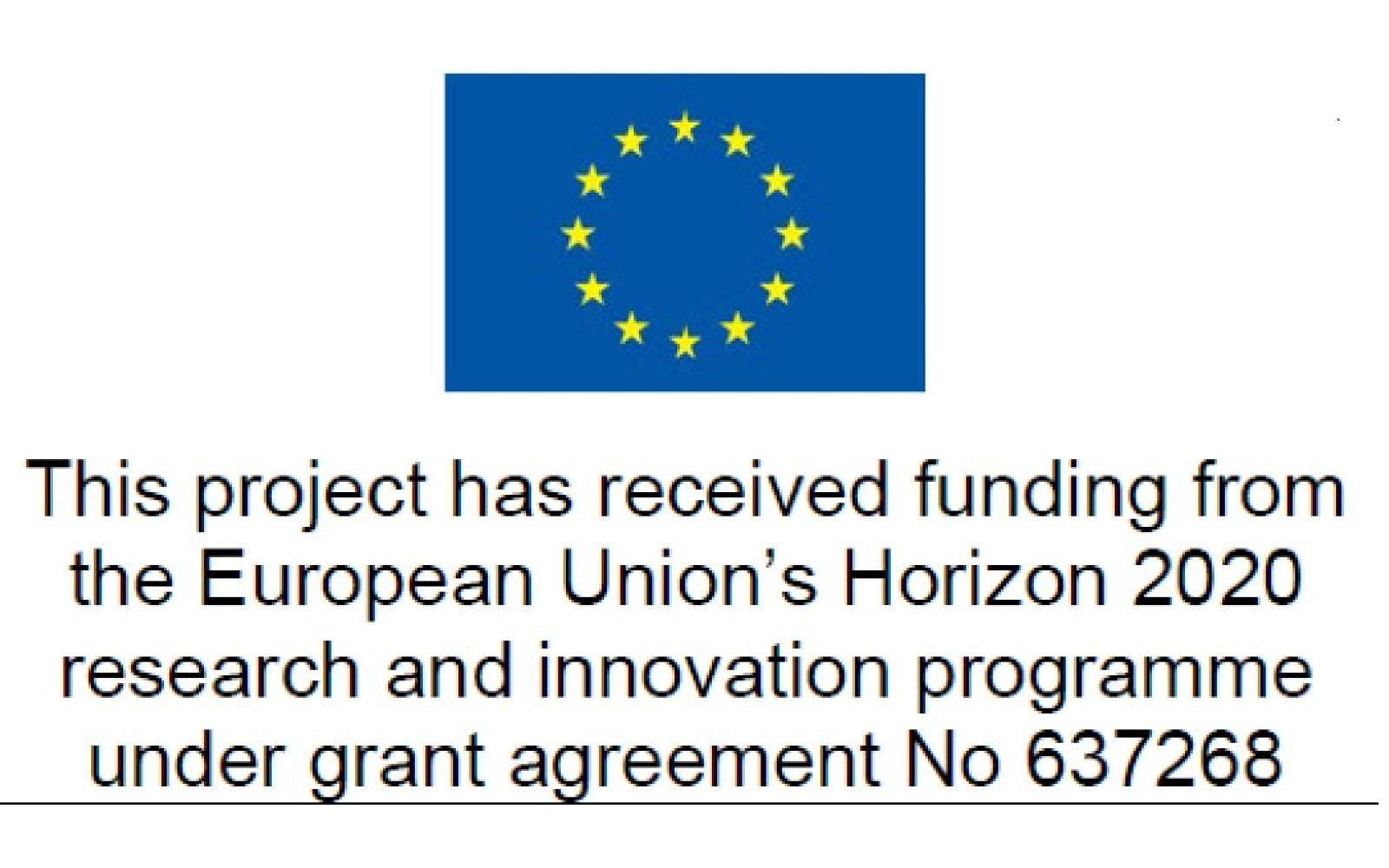 This project has received funding from the European Union's Horizon 2020 research and innovation programme under grant agreement No 637268