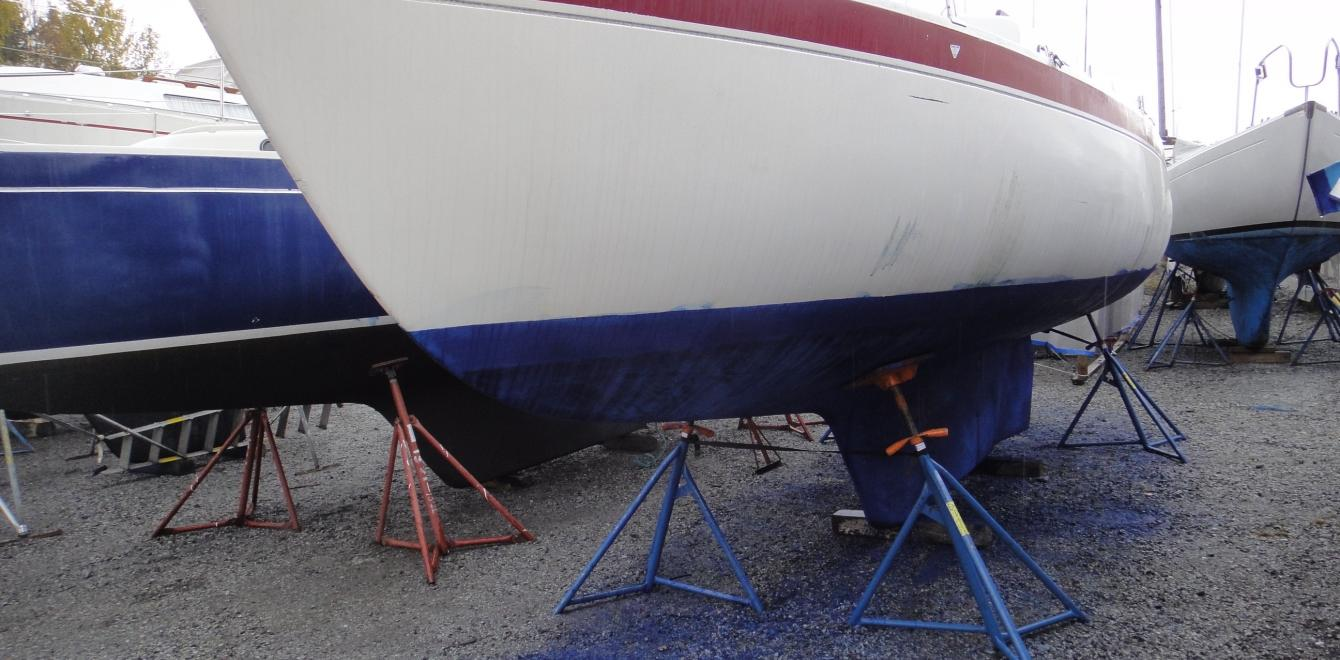 Paint scrapings of antifouling paint