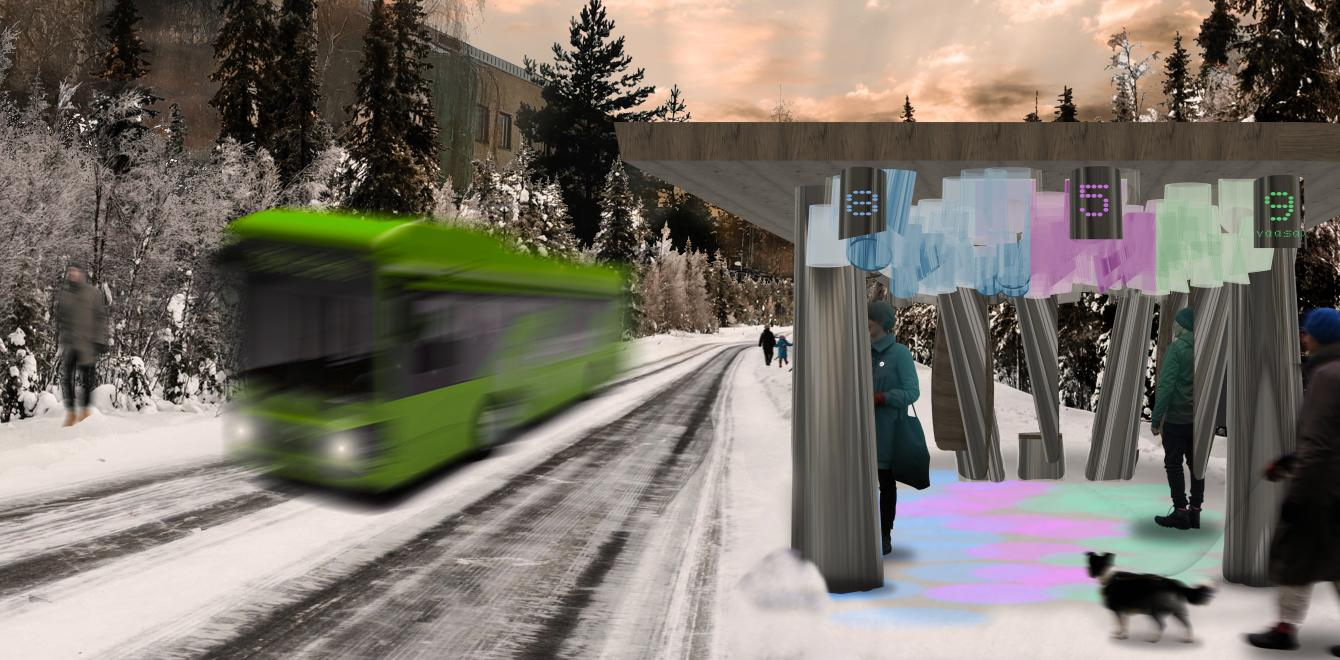 RISE Interactive Umea - Bus Stop for the Sustainable Smart City of the Future