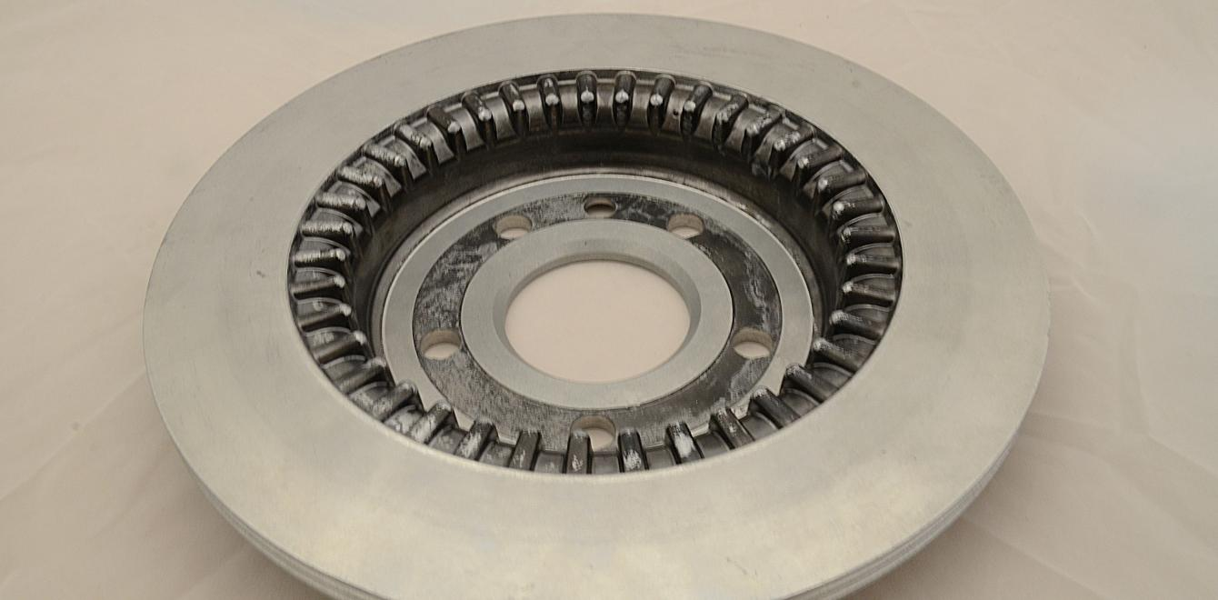 Brake disc cast in aluminium MMC by Automotive Components Floby
