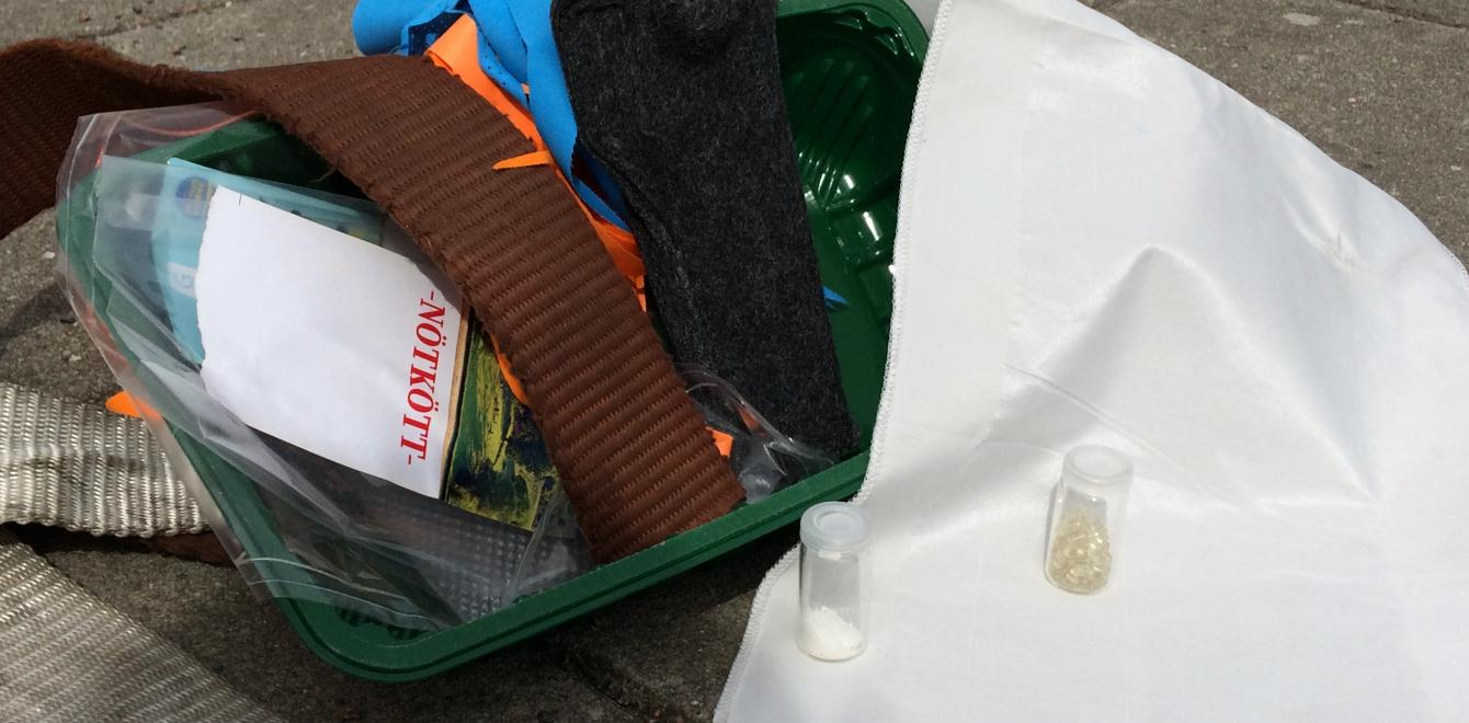 waste of PET and polyester is recycled to new material