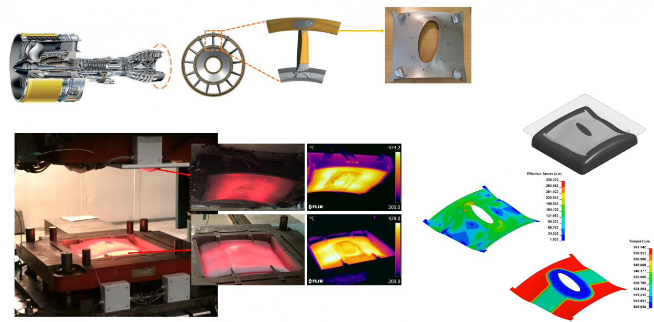 Simulation of forming and welding processes for the manufacturing of bi-metallic aero-engine components in superalloys