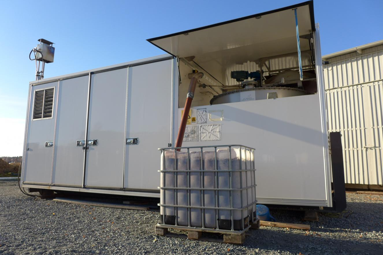 Mobile biogas testbed