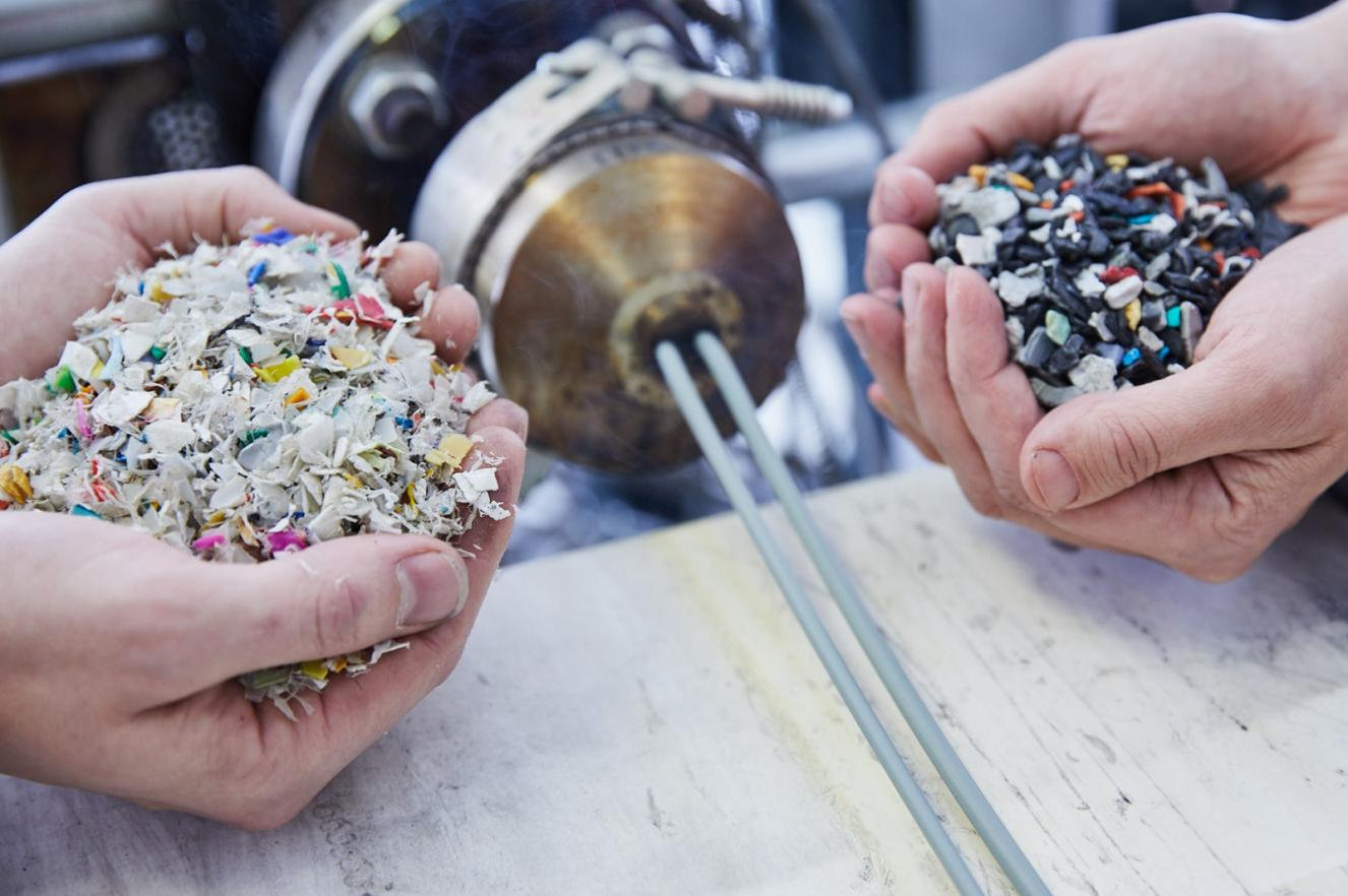 Materials recycling and plastic