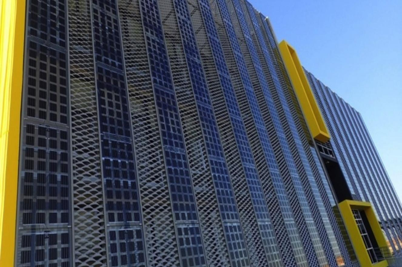 BIPV Building integrated PV cells E2B2 energy agency datacenter