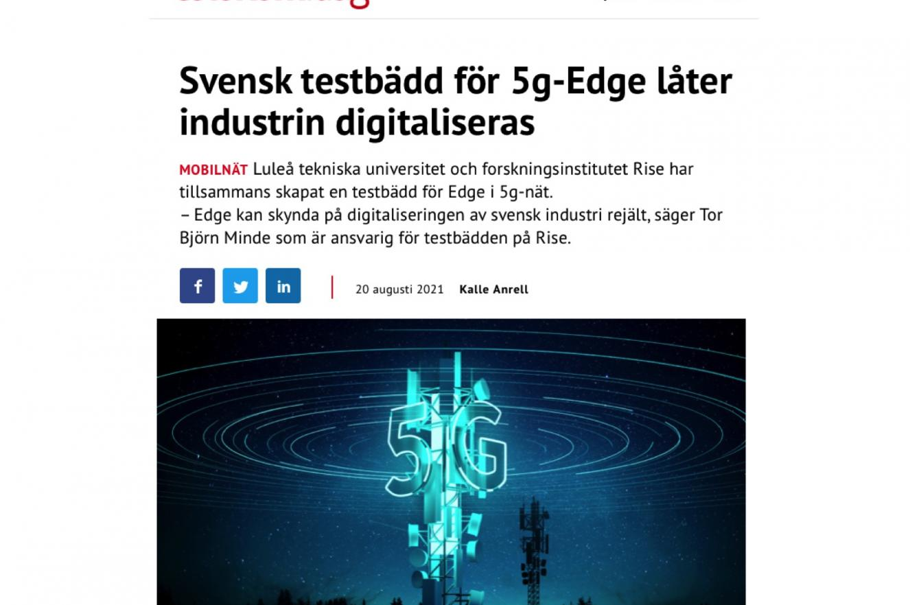 ICE datacenter research testbed innovation AI experiment cloud IT infrastructure edge 5G smart cities